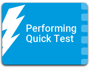 Performing Quick Tests